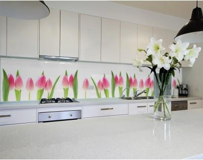 WIOSENNE TULIPANY - kuchenny panel szklany
