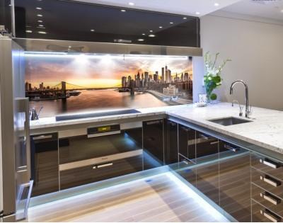 BROOKLYN NOWY JORK - nowoczesny panel szklany do kuchni