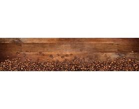 ROZSYPANA KAWA - hartowany panel szklany do kuchni na wymiar - grafika