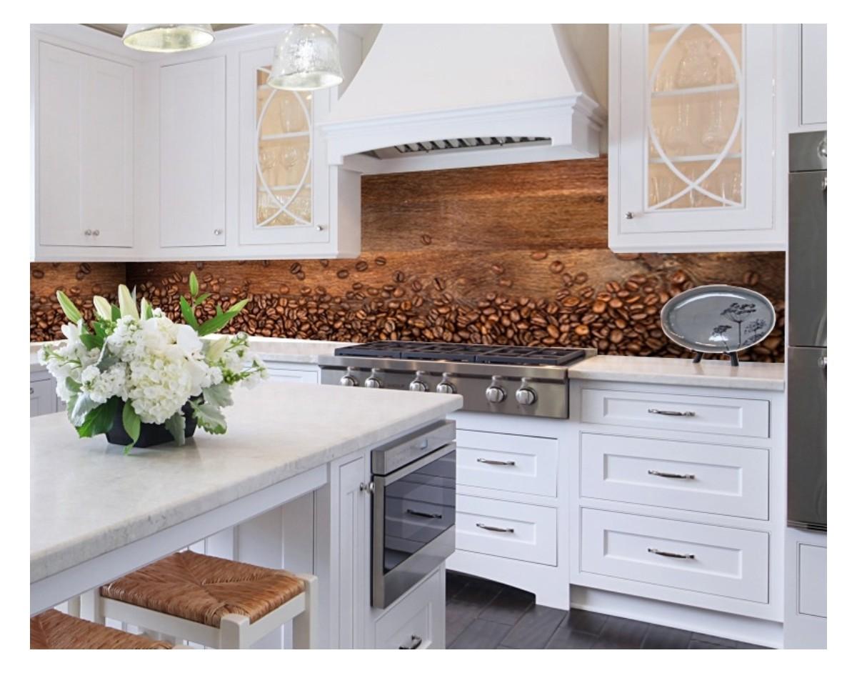 rozsypana kawa hartowany panel szklany do kuchni na wymiar dekoracje cienne sklep. Black Bedroom Furniture Sets. Home Design Ideas