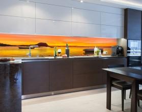 NADMORSKI ZACHÓD SŁOŃCA - hartowany panel szklany do kuchni na wymiar