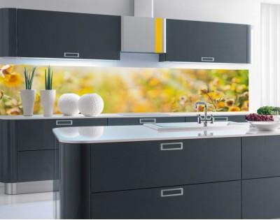 ŁĄKA W PROMIENIACH SŁOŃCA - hartowany panel szklany do kuchni na wymiar