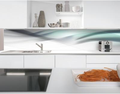 BLUE WAVE - nowoczesny hartowany panel szklany do kuchni