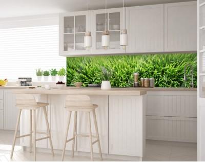 ZIELONO MI - hartowany panel szklany do kuchni na wymiar