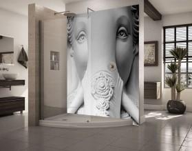 RZEŹBA SŁONIA - hartowany panel szklany do łazienki