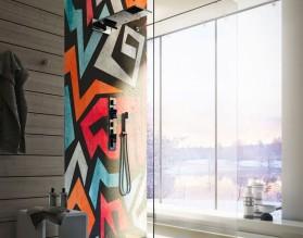 URBAN ART - hartowany panel szklany do łazienki
