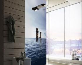 ŻAGLÓWKA NA OCEANIE - hartowany panel szklany do łazienki