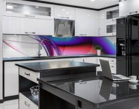 FRAKTALNA FALA - nowoczesny hartowany panel szklany do kuchni