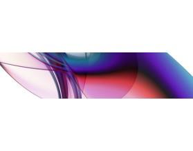 FRAKTALNA FALA - nowoczesny hartowany panel szklany do kuchni - grafika