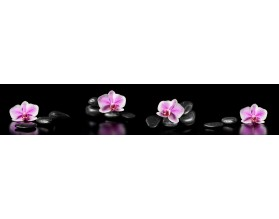 ORCHIDEE NA KAMIENIACH - kuchenny hartowany panel szklany - grafika