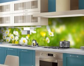 WIOSENNA ŁĄKA - hartowany panel szklany do kuchni na wymiar