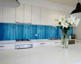 NIEBIESKIE DESKI - hartowany panel szklany do kuchni