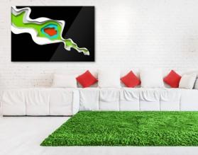 LAYERS - abstrakcyjny obraz na szkle