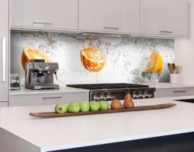 POMARAŃCZE W WODZIE - hartowany panel szklany do kuchni