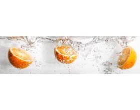 POMARAŃCZE W WODZIE - hartowany panel szklany do kuchni - grafika