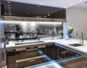 BROOKLYN BRIDGE - hartowany panel szklany do kuchni