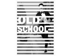 OLD SCHOOL - designerski obraz na płótnie - grafika