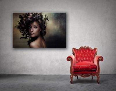 CURLY WOMAN - obraz na szkle