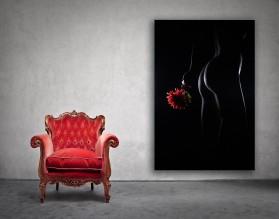 NAKED FLOWER - obraz na płótnie