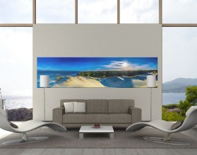 NADMORSKI WIDOK - panorama - obraz na szkle