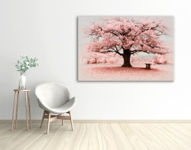 PINK TREE - obraz na szkle
