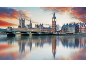 PASTELOWY LONDYN - obraz na szkle - grafika