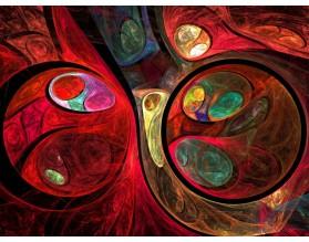 FRAKTALNE KULE - hartowany panel szklany - grafika