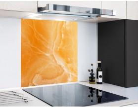 ONYKS W POMARAŃCZY - hartowany panel szklany