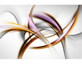 ABSTRAKCJA Z FIOLETEM - hartowany panel szklany - grafika