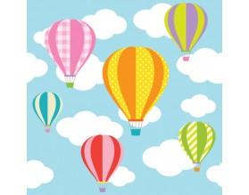 COLORFUL BALLOONS - tapeta dziecięca - grafika
