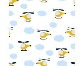 FLYING SKY - tapeta dziecięca - grafika
