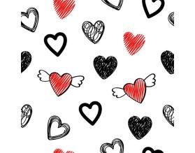 HEARTS - tapeta dziecięca - grafika