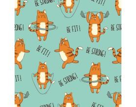 SPORT CAT - tapeta dziecięca - grafika