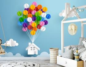 BALLOONS HOUSE - tapeta dziecięca