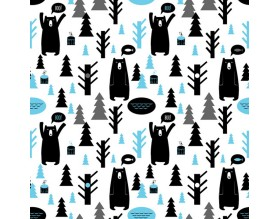 BOO! BEARS - tapeta dziecięca - grafika