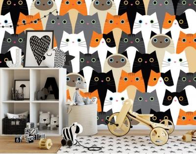 CAT FAMILY- tapeta na ścianę