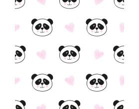 LOVE PANDA - tapeta ścienna - grafika