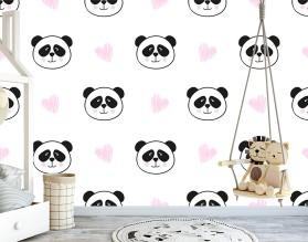 LOVE PANDA - tapeta ścienna