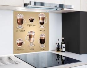 KAWOWY MIX - hartowany panel szklany