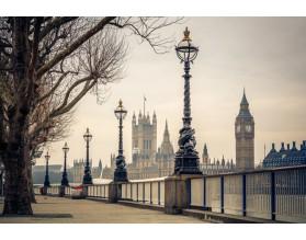 LONDYN W SEPII - obraz na płótnie - grafika