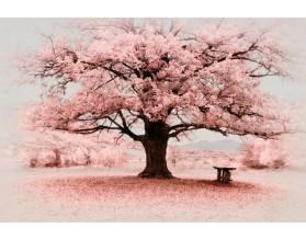 PINK TREE - obraz na płótnie - grafika