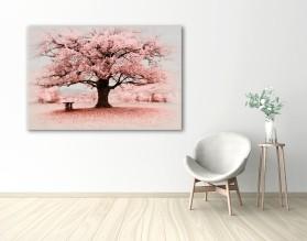 PINK TREE - obraz na płótnie