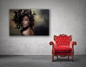 CURLY WOMAN - obraz na płótnie