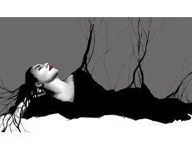 BLACK DRESS - obraz na płótnie - grafika