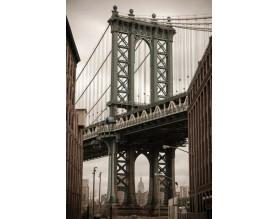 MANHATTAN BRIDGE - obraz na płótnie - grafika