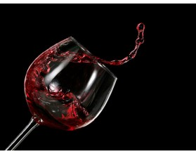 kielich chlupiące wino - obraz na płótnie - grafika