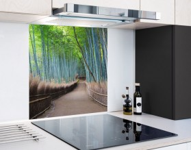 BAMBUSOWY SZLAK - hartowany panel szklany