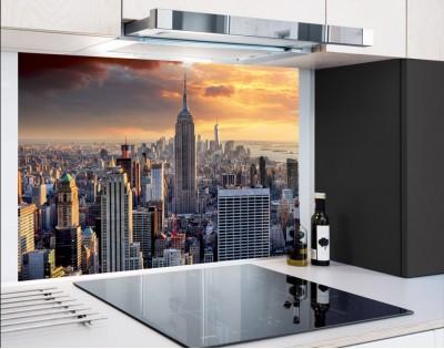 NEW YORK SKYLINE - hartowany panel szklany