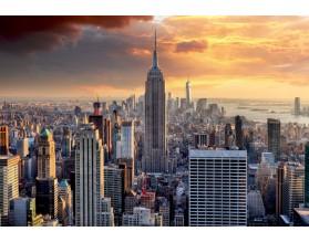 NEW YORK SKYLINE - hartowany panel szklany - grafika