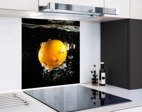 POMARAŃCZA W WODZIE - hartowany panel szklany